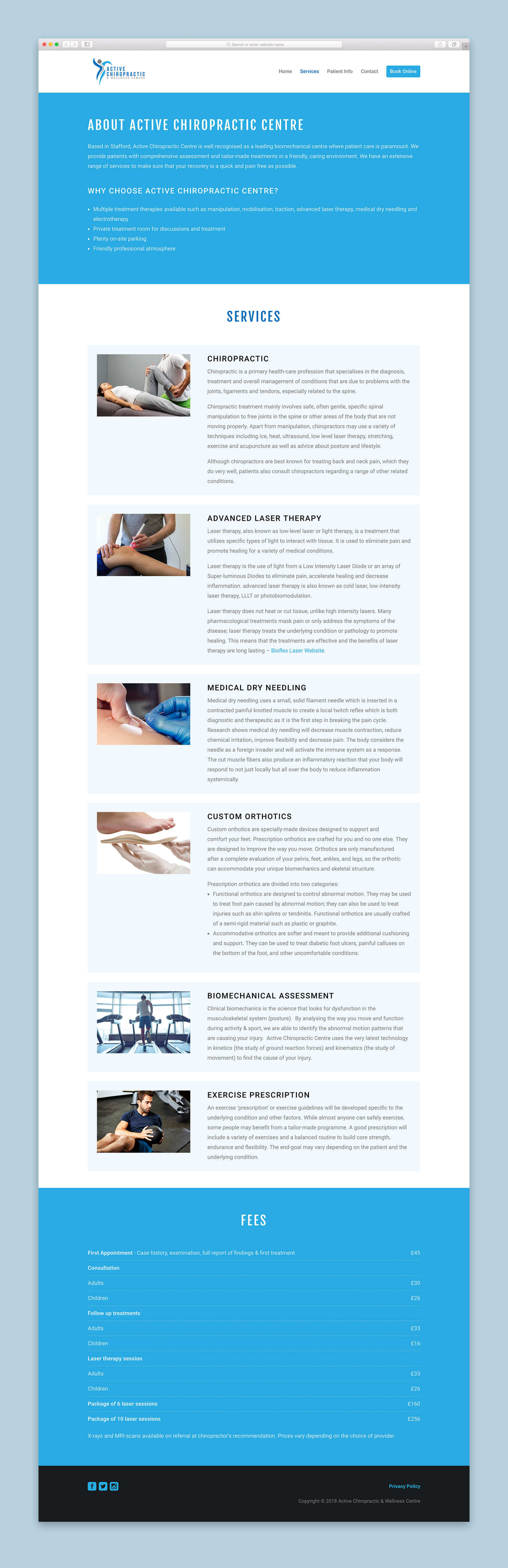 Active Chiropractic Website About Page