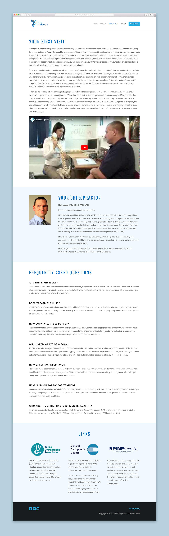 Active Chiropractic Website Patient Info Page